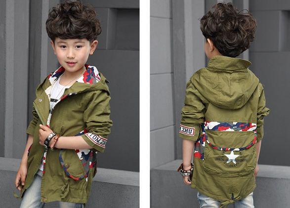 Курточка для мальчиков демисезонная парка хакки 7604