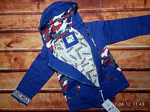 Курточка для мальчиков парка синяя 7603, фото 2