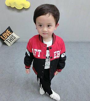 Курточка для мальчиков красно черная 7607, фото 2