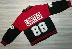 Курточка для мальчиков красно черная 7607, фото 3