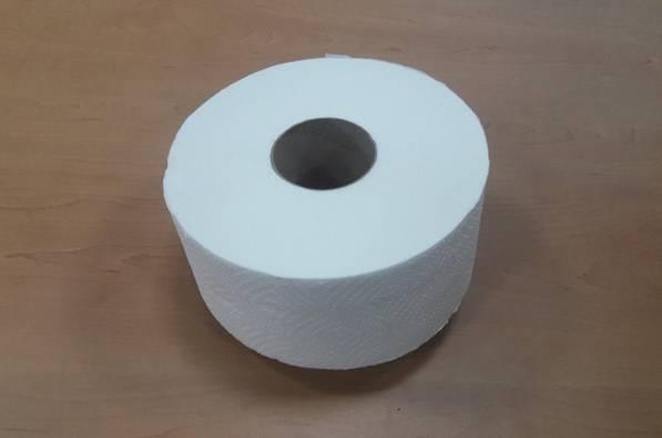Туалетная бумага Jumbo 120м белая