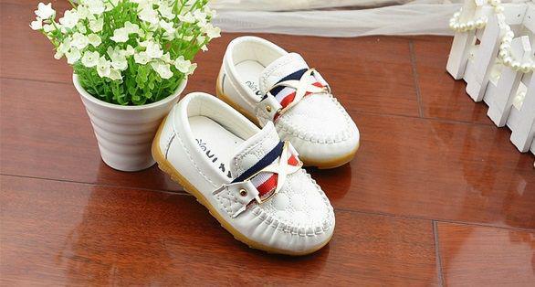 Туфли детские белые 20005