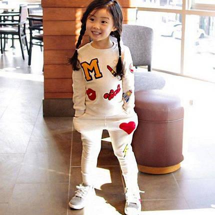 Спортивный костюм для девочек белый 7713, фото 2