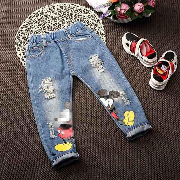 Джинсы детские для мальчика  летние Mickey 7723