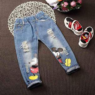 Джинсы детские для мальчика  летние Mickey 7723, фото 2
