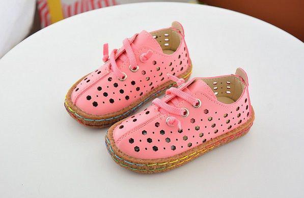 Туфли детские экокожа розовые 7817
