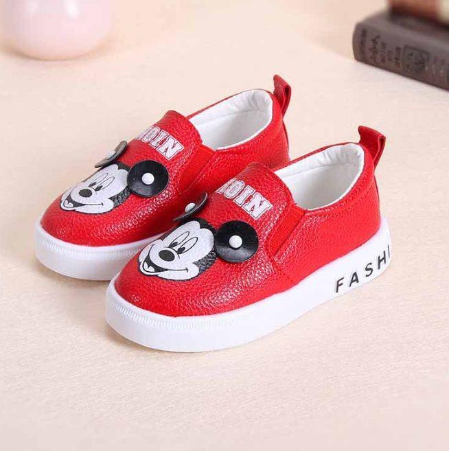 Туфли детские Мики экокожа красные 7985
