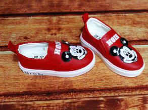 Туфли детские Мики экокожа красные 7985, фото 2