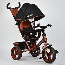 Велосипед 6570 3-х колёсный Best Trike (1) БРОНЗОВЫЙ, переднее колесо 12 дюймов d=28см, заднее 10 дюймов d=24см, ПЕНА