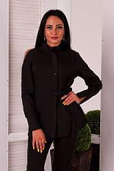 Женская рубашка на запах черная