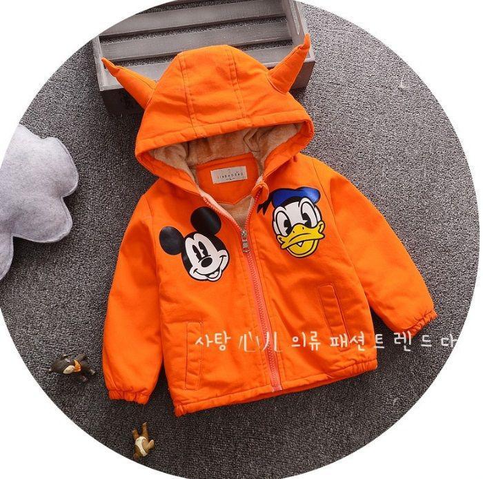 Курточка детская оранжевая холодная осень 8011