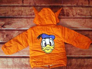 Курточка детская оранжевая холодная осень 8011, фото 2
