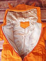 Курточка детская оранжевая холодная осень 8011, фото 3