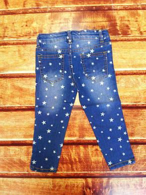 Джинси детские синие со звездочками 8052, фото 2