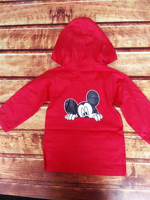 Плащ детский осенний красный 8070, фото 2