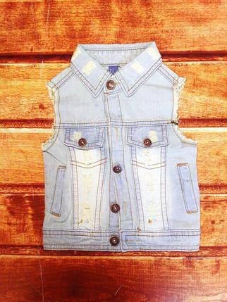 Желетка детская джинсовая унисекс 8061, фото 2