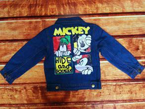 Курточка детская джинсовая синяя унисекс 8063, фото 2