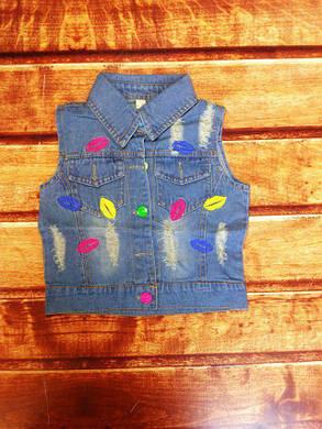 Желетка детская джинсовая синяя 8062, фото 2