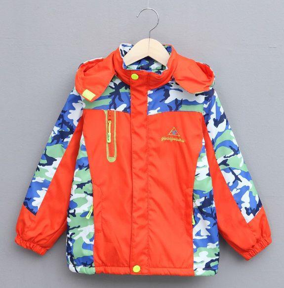 Курточка детская осенняя на мальчика оранжевая