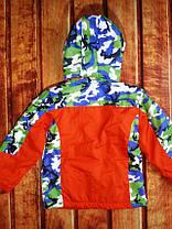 Курточка детская осенняя на мальчика оранжевая , фото 2