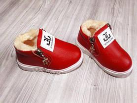 Ботинки детские зимние красные на девочку 9162, фото 2