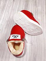 Ботинки детские зимние красные на девочку 9162, фото 3