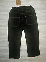 Джинсы для мальчиков утепленные черные 9180, фото 3