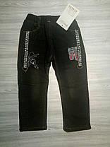 Джинсы для мальчиков утепленные черные 9181, фото 3