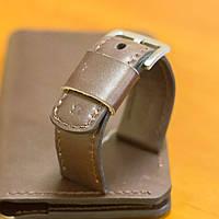 Ремешок для наручных часов Revier ручной работы с натуральной итальянской кожи коричневого цвета