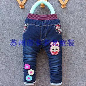 Джинсы для девочек утепленные 9226, фото 2