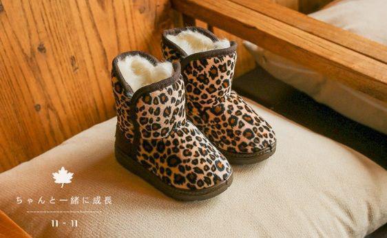 Угги детские леопардовые 9238