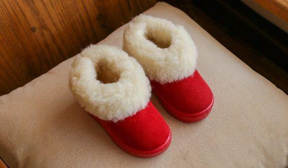 Угги детские зимние на девочку красные 9246