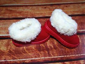 Угги детские зимние на девочку красные 9246, фото 2