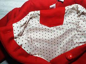 Пальто для девочек на весну красное с тучкой, фото 3