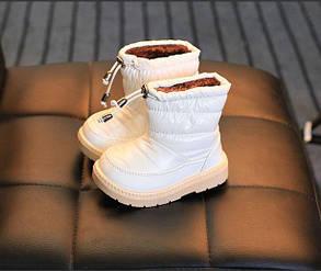 """Ботиночки зимние для девочек """"дутики"""" белые 26 размер, фото 2"""