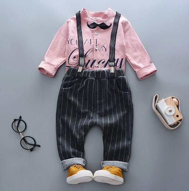 Нарядный костюм двойка для мальчиков розовый