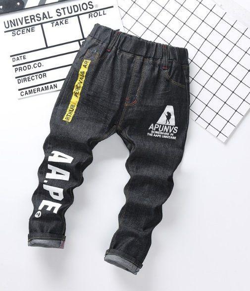 Джинсы для мальчиков на весну черные AA.PE