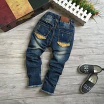 Джинсы для девочек рваные на весну темно-синие 122,140 размер, фото 2