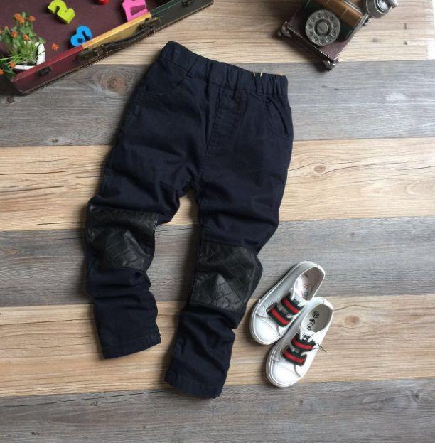 Штаны для мальчиков на весну темно-синие