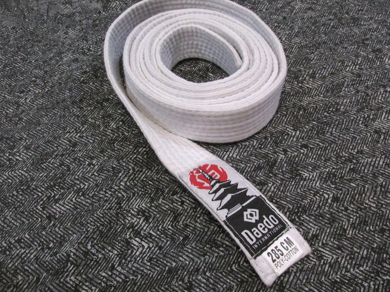 Пояс кимоно Daedo 285 (4х285 см), белый, Как Новый!