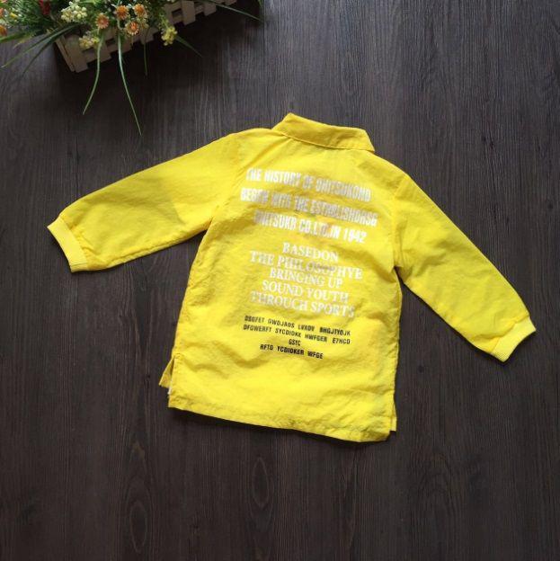 Рубашка детская для девочки желтая из полиестера
