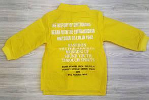 Рубашка детская для девочки желтая из полиестера, фото 2