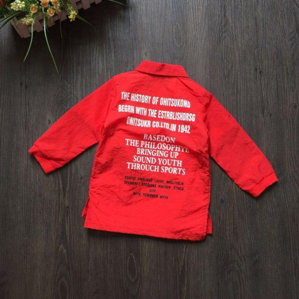 Рубашка детская для девочки красная из полиестера