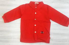 Рубашка детская для девочки красная из полиестера, фото 2