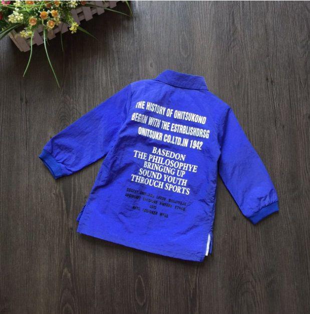 Рубашка детская для девочки синяя из полиестера