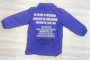 Рубашка детская для девочки синяя из полиестера, фото 2