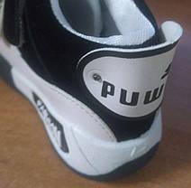 Кроссовки детские демисезонные Puwa черные с белым, фото 3