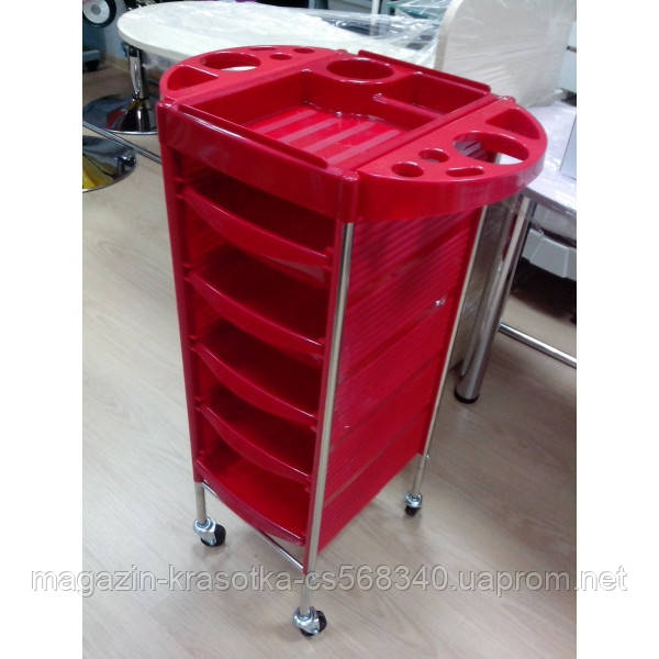 Тележка парикмахерская T0Q6 Red (Красная)