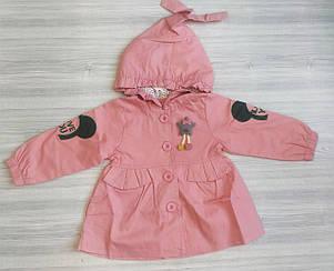 Парка для девочек со звездочкой персиковая, фото 2