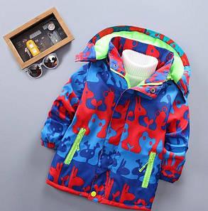 Демисезонная детская куртка на мальчика  на флисе 130 размер, фото 2